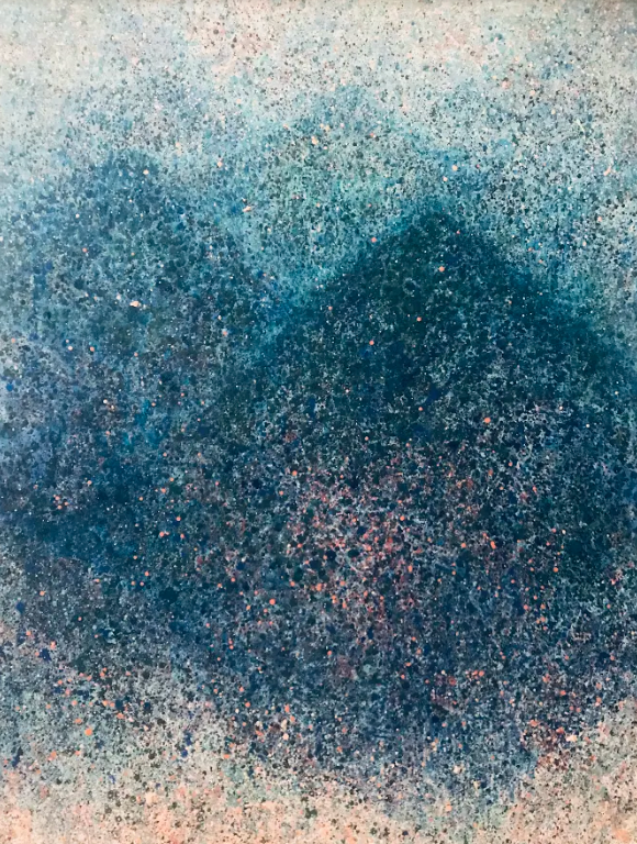 Joohyun Kang, As dew flows down the mountains, 2020, Oil on canvas, 36 x 48 inches, $3,400