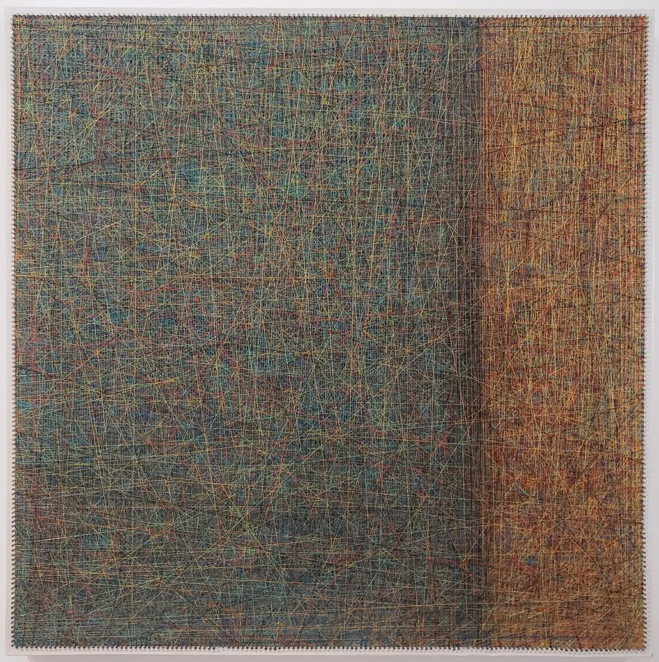 Sooyon Kim, Untitled, Mixed media, 31.5 x 31.5 inches, $5,200