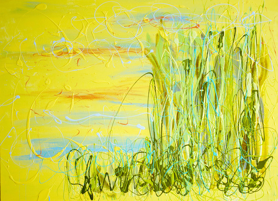 Early_Yellow_2015_Enamel_on_canvas_44_x_