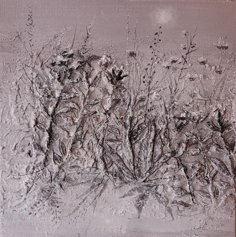 Byung Hyun Chon, Blossom Field, 2020, Mixed media, 21 x 21 inches, $4,000