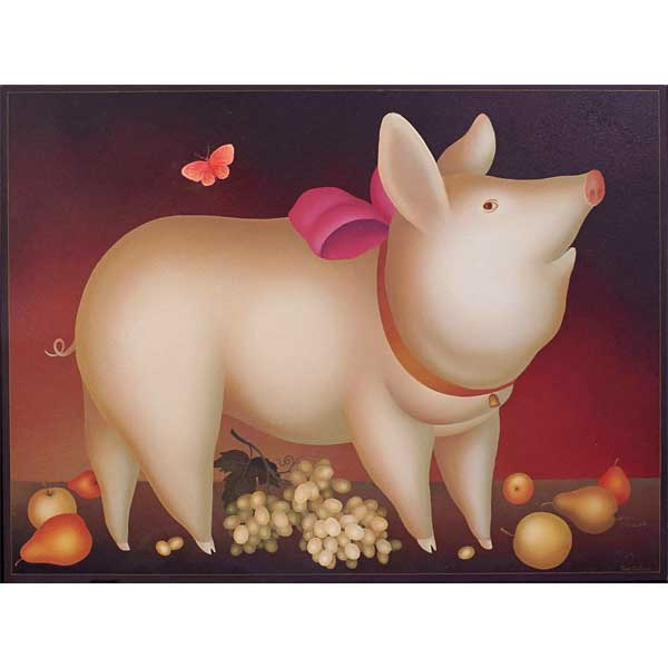 Pig with Pink Bow