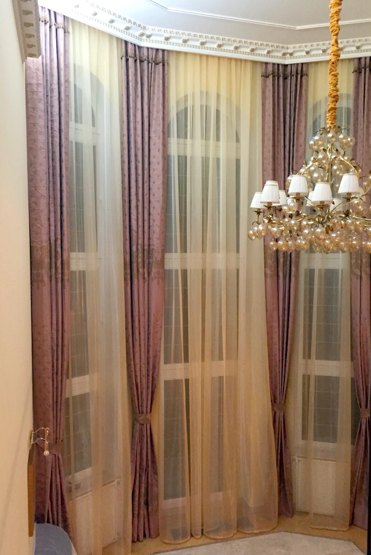 большые шторы гостиной