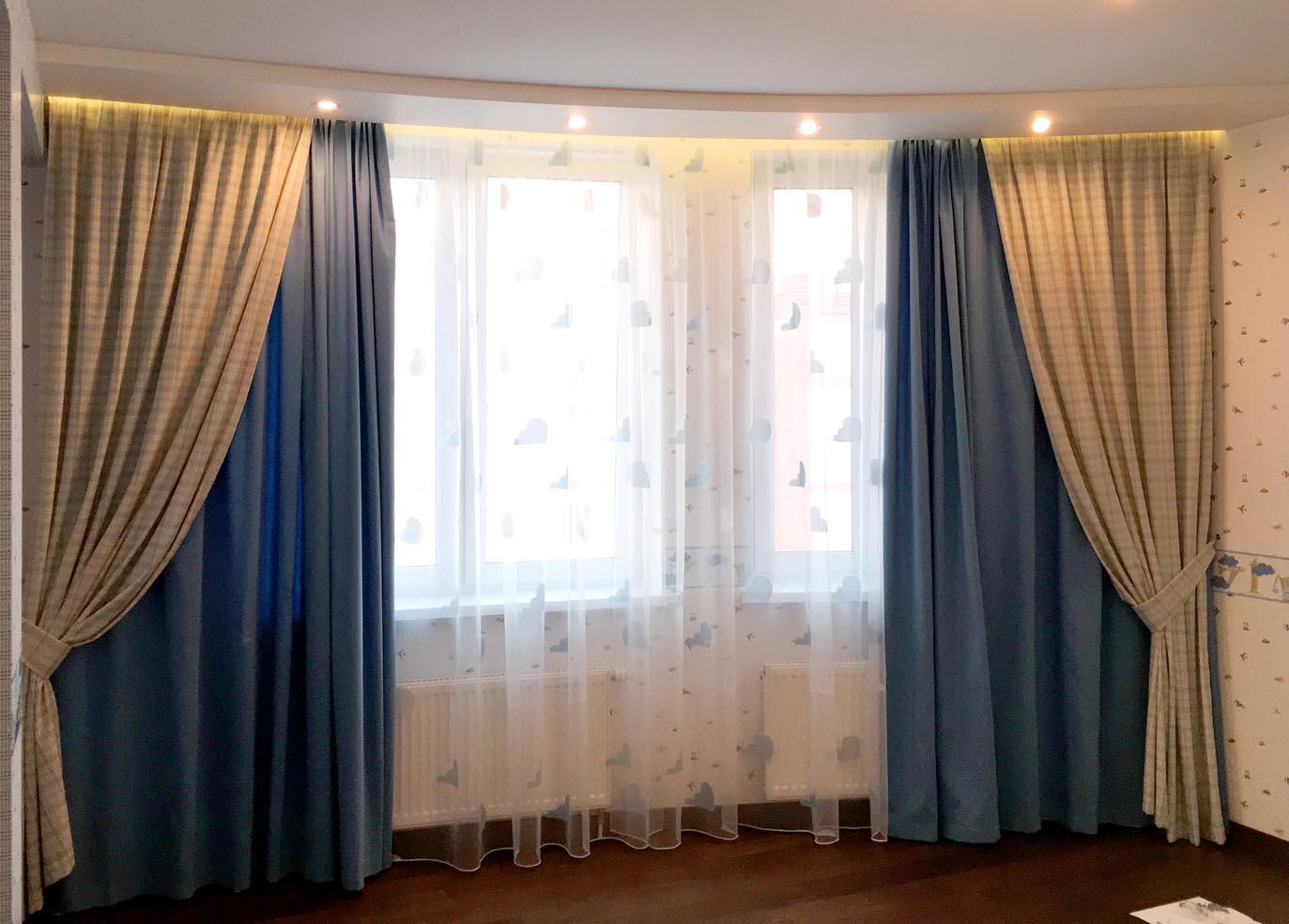 шторы двойные