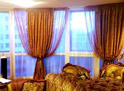 шторы панорамное окно