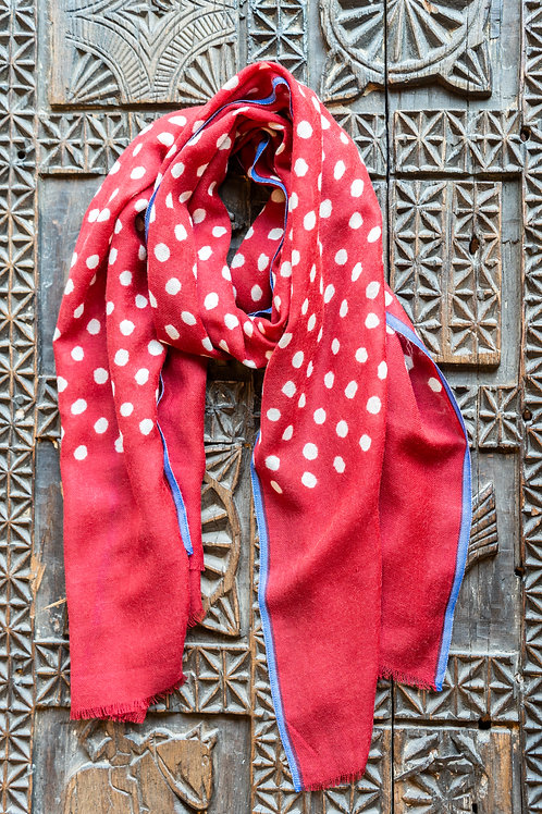 Red Polka Dots Scarf