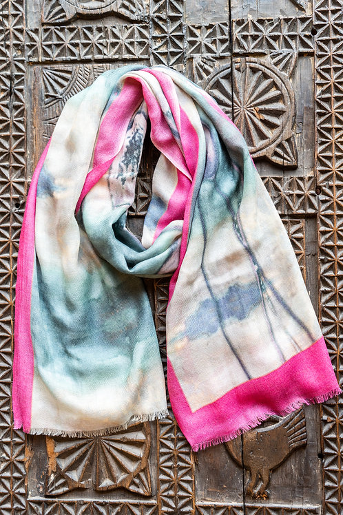 Water Color Tulips Scarf
