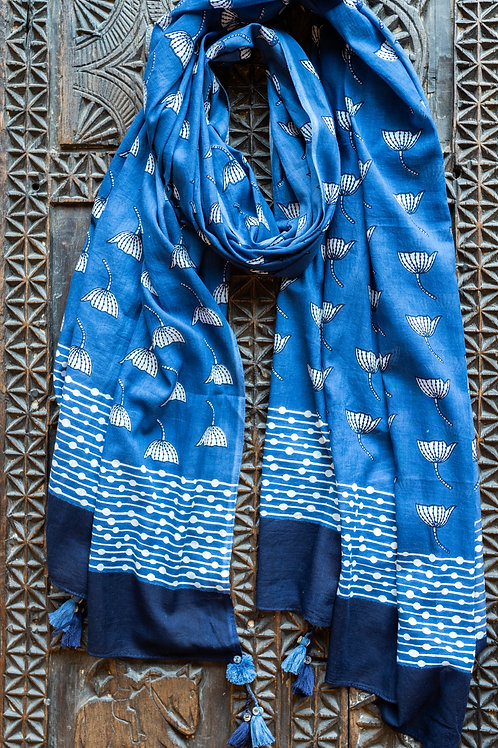 Blue Tulip Scarf