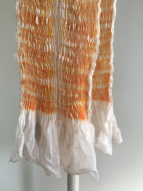 Sandy Orange Silk shiboori scarf
