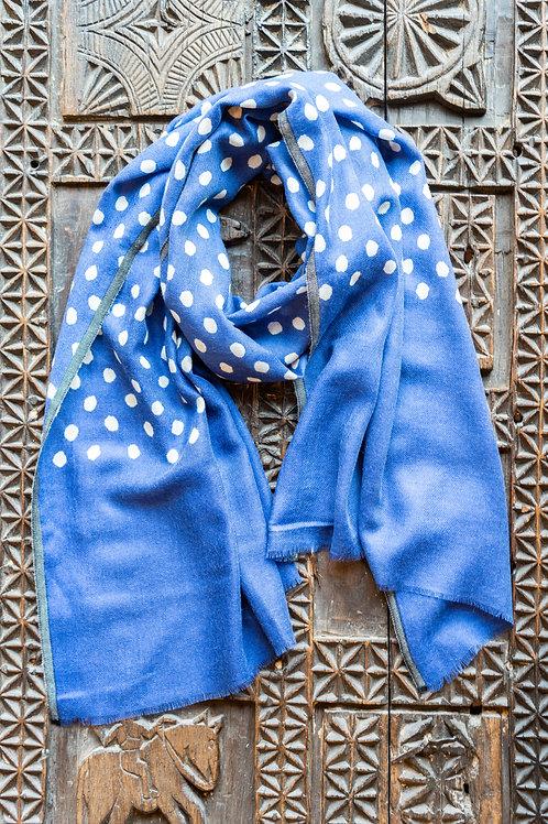 Blue Polka Dots Scarf