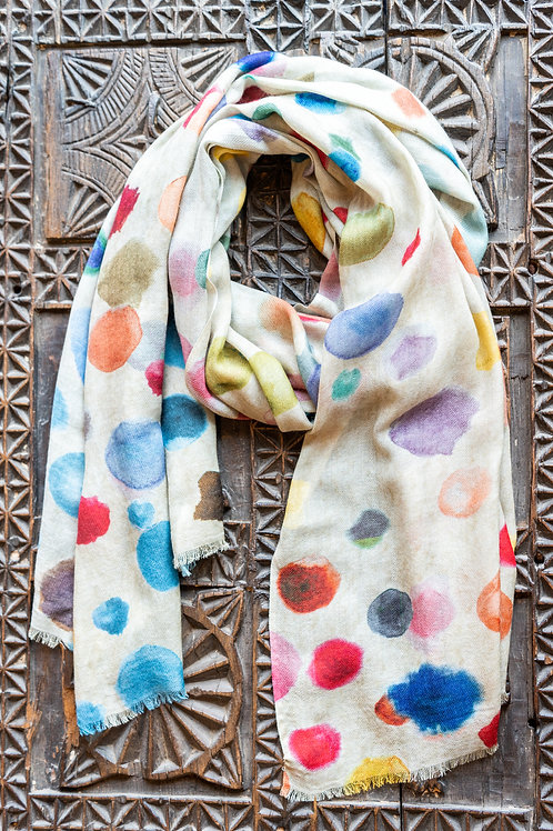 Water Color Dots Scarf