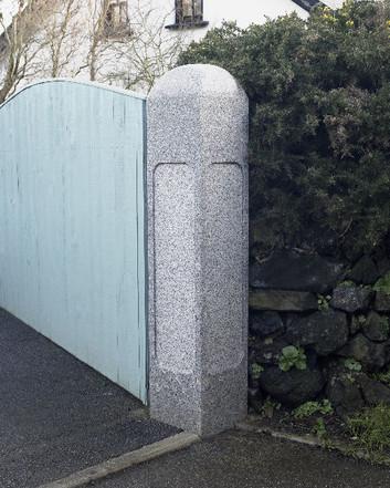Granite gate post