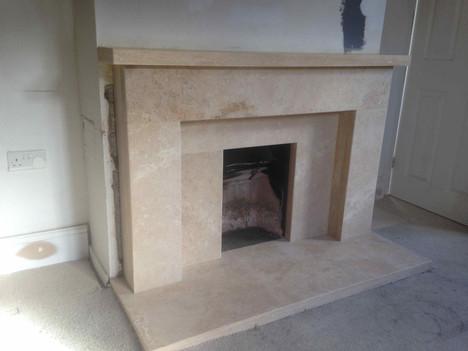 Travertine Limestone Fireplace