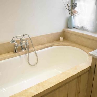 Vanity - Bath Surround - Travertine Lime