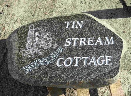 House Sign - Polished Welsh Beach Pebble