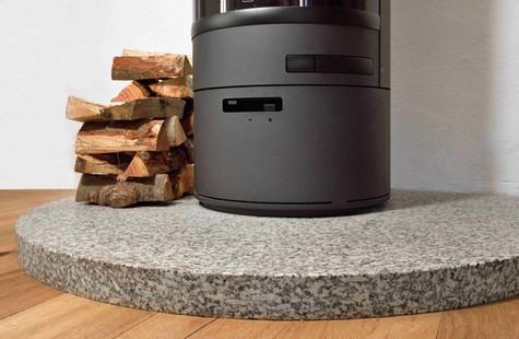 Cornish Granite Hearth - Detail