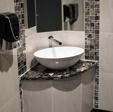 Nero Marinace granite vanity
