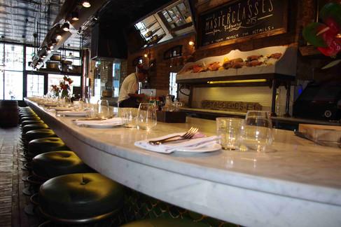 Bar Countertop- Carrara Marble Bar & Fish
