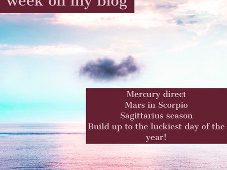 Horoscope for the week of 11.18 - 11.24    Mercury direct, Mars in Scorpio, Sagittarius season
