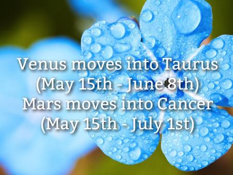 Venus in Taurus & Mars in Cancer