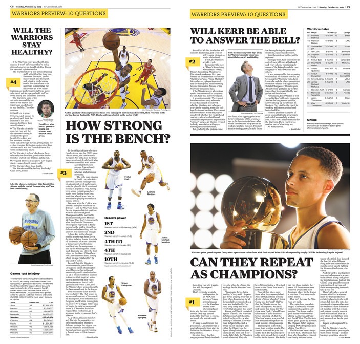 Warriors Preview Spread
