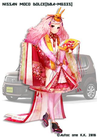 「車なごコレクション」モコ(ひな祭り)