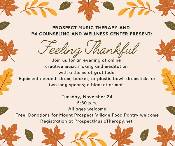 Prospect Music Therapy and P4 Counsellin