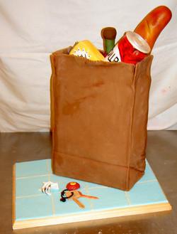 Bag of Groceries Cake