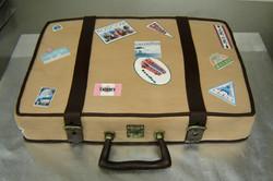 Suitcase Grooms Cake