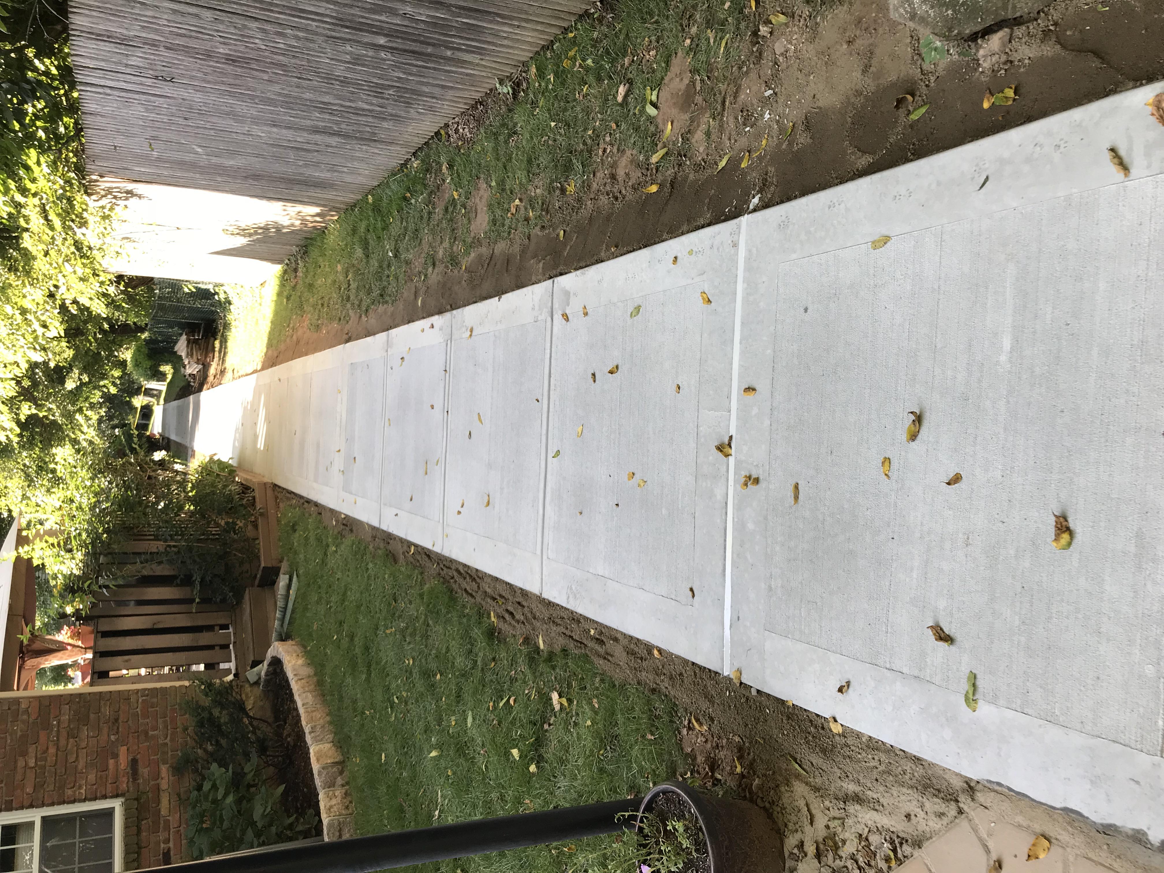 Walk way concrete