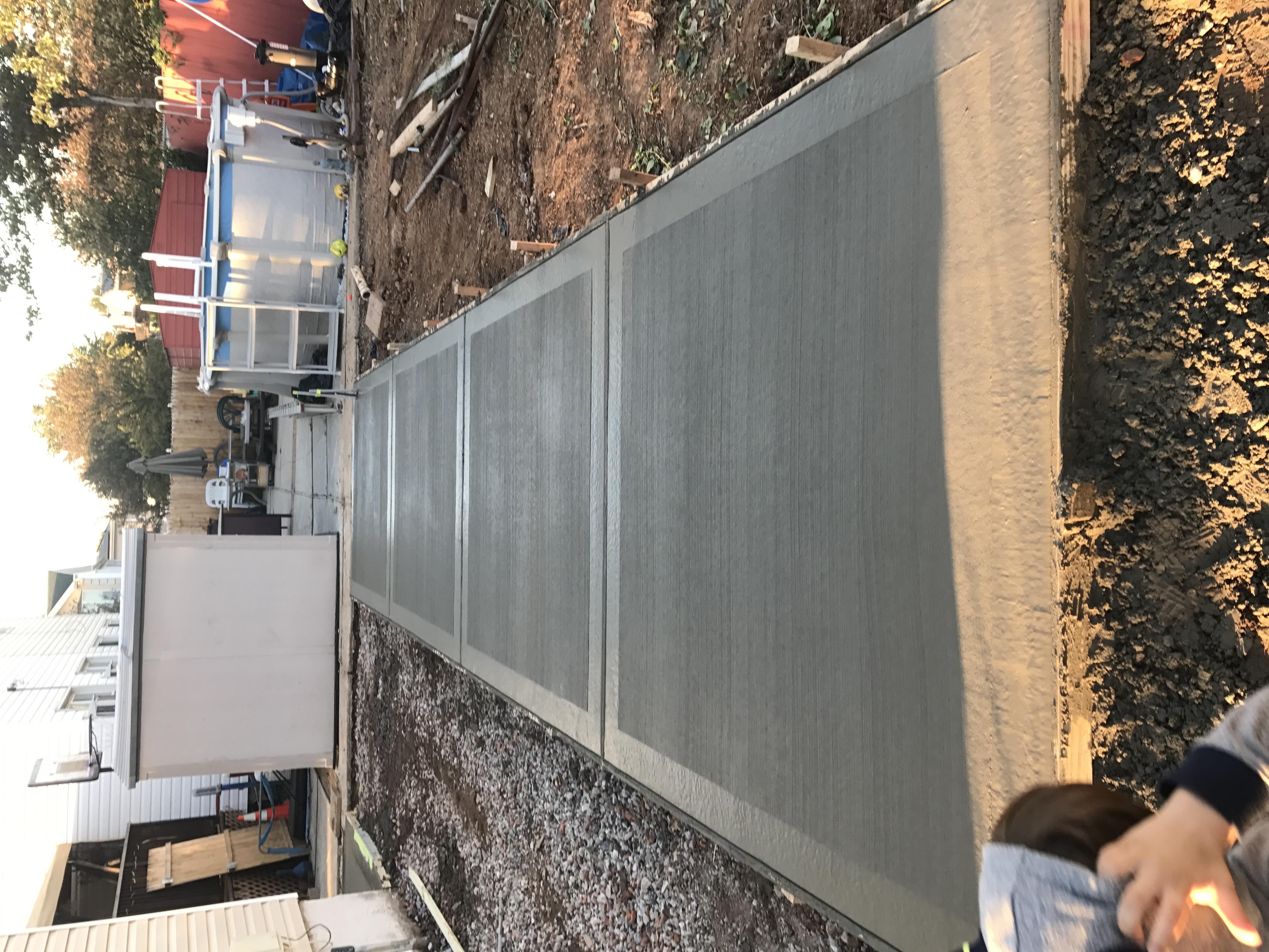 Yard concrete