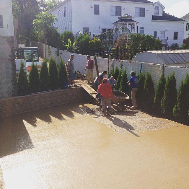 Color concrete for basketball court #nba #basketball