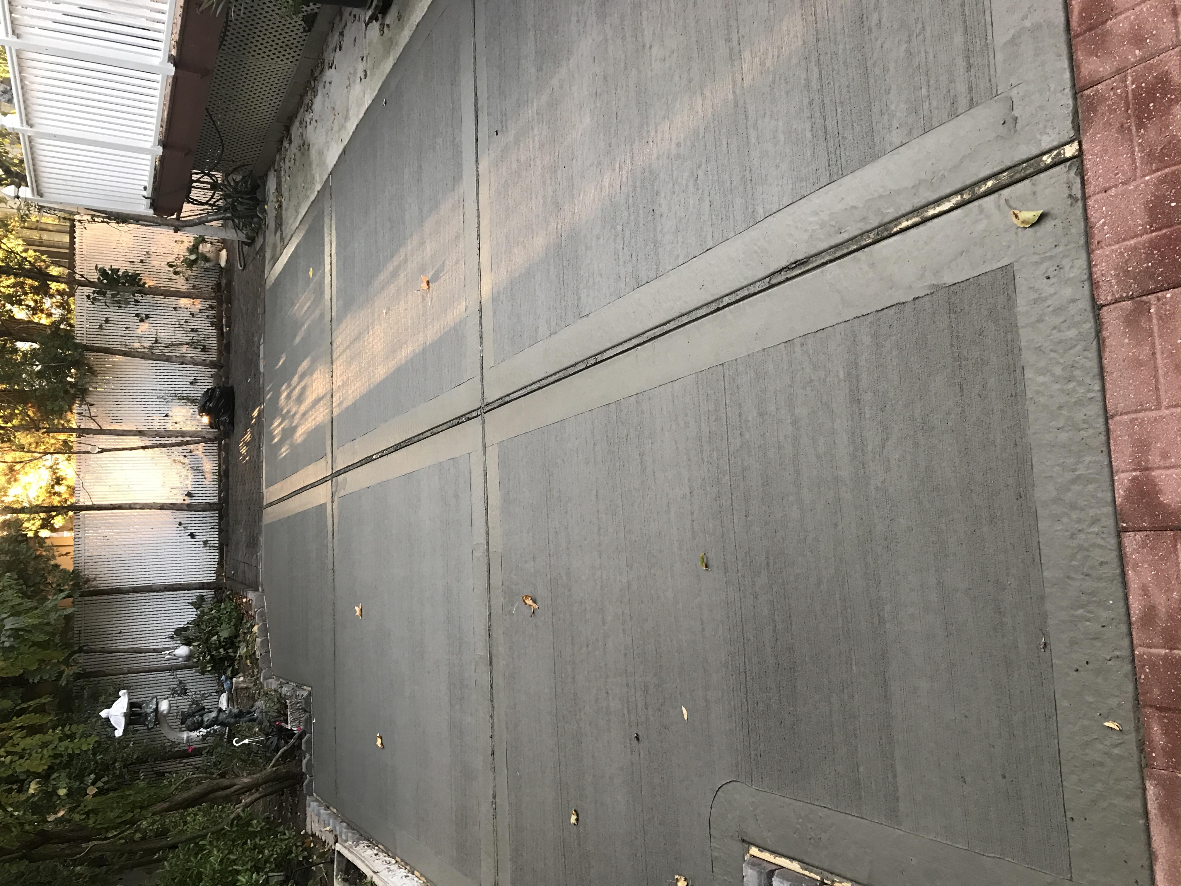 Back yard concrete