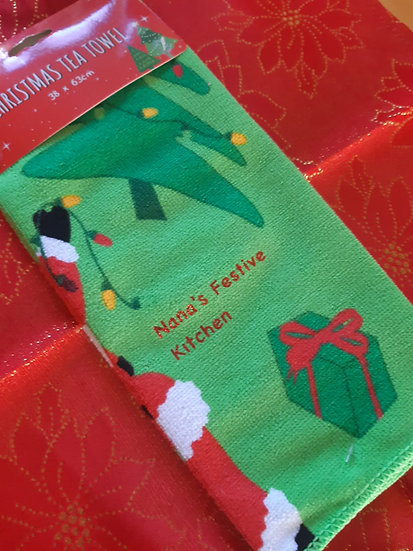 Personalised Christmas Tea Towels