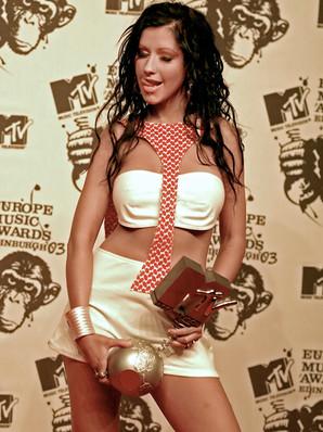 CHRISTINA  AGUILERA. MTV MUSIC AWARDS EDINBURGH 2003