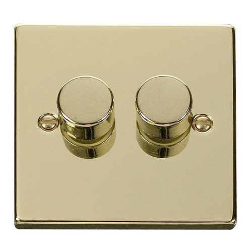 Click VPBR152 2 Gang 2 Way 400Va Dimmer Switch