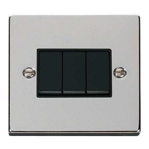 Click  Deco VPCH013 3 Gang 2 Way 10AX Switch