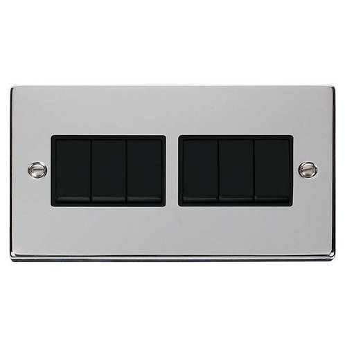 Click Deco VPCH105 6 Gang 2 Way 10AX Switch