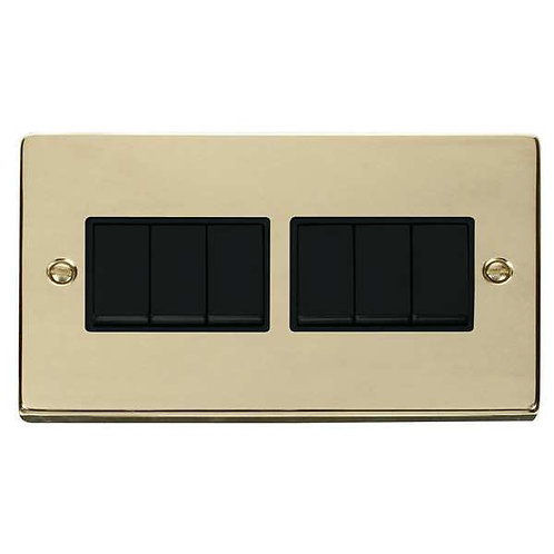 Click Deco VPBR105 6 Gang 2 Way 10AX Switch