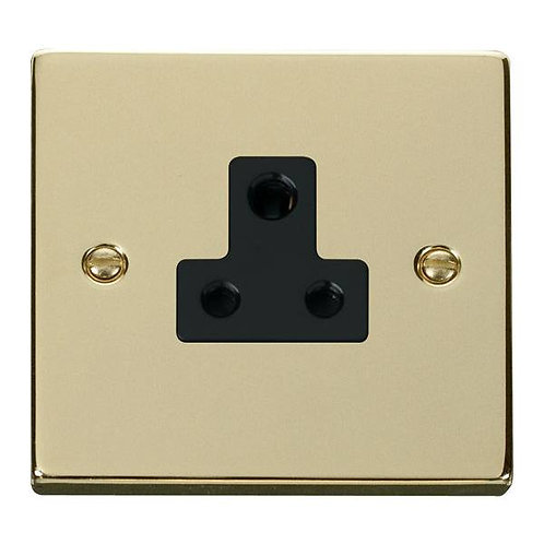 Click Deco VPBR038 5A Round Pin Socket Outlet