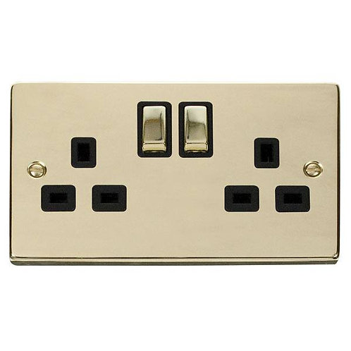 Click Deco VPBR536 2 Gang 13A DP Ingot Switched Socket Outlet