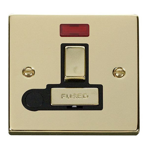Click VPBR552 13A Fused 'Ingot' Switched Connection Unit With Flex Outlet & Neon