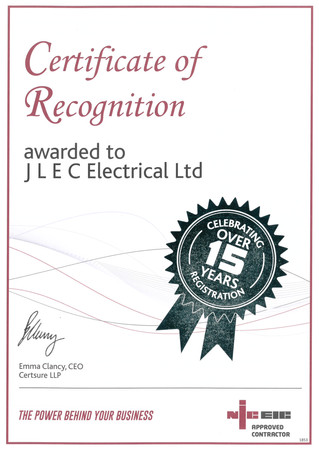 NICEIC Approved For Over 15 Years!