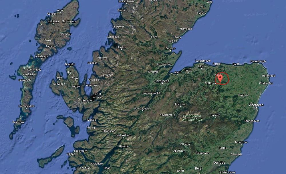 Wind farm close to Inverness