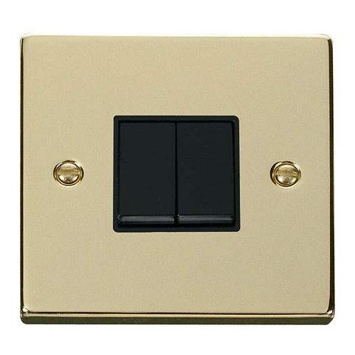 Click Deco VPBR012 2 Gang 2 Way 10AX Switch