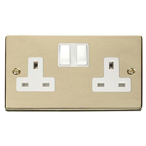 Click Deco VPBR036 2 Gang 13A DP Switched Socket Outlet