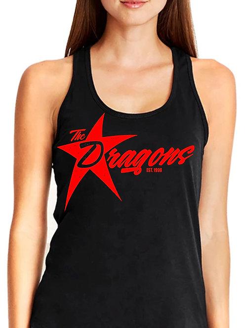 Women's Black & Red Tank Top S-XXL