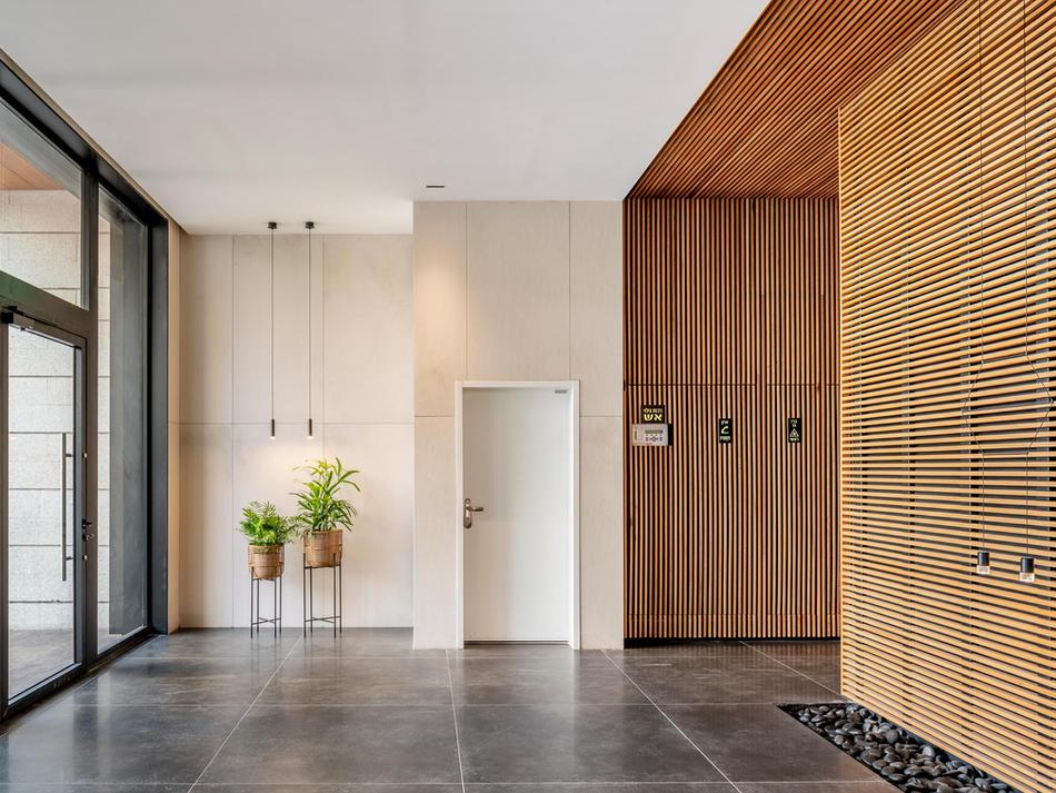 עיצוב לובי מגורים