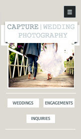 Events website templates – Wedding Photographer