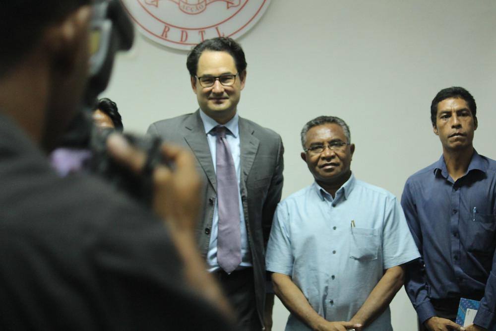 With Prime Minister Rui Maria de Araújo