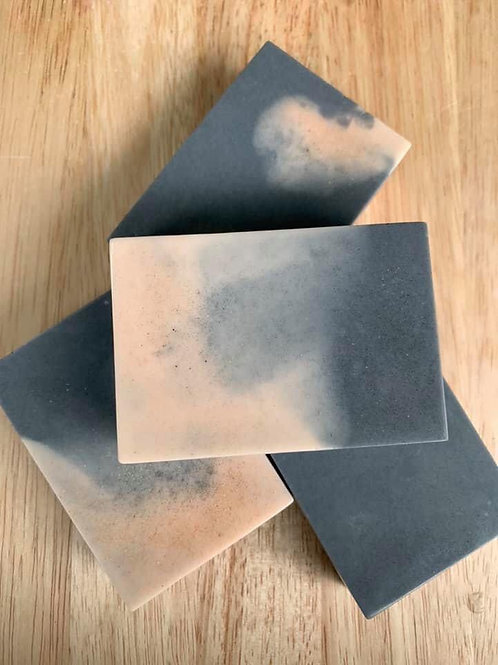 Rose Geranium & Charcoal with French Pink Clay